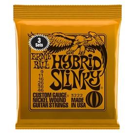 Ernie Ball Hybrid Slinky 9-46 3222 3 Sets