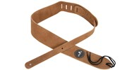Chord Heavy Duty Suede Leather Guitar Strap, Tan