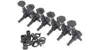 Chord Set Of 6 In Line Tuners, Black