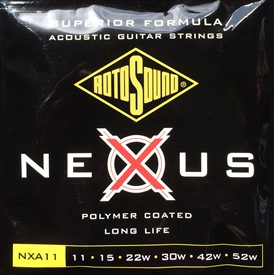 Rotosound Nexus Polymer Coated Acoustic Strings NXA11