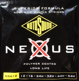 Rotosound Nexus Polymer Coated Acoustic Strings NXA12
