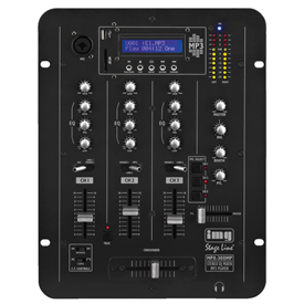 Stageline MPX-30DMP 3CH DJ Mixer With Media Player