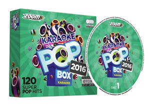 CDG - Zoom Karaoke Pop Box 2016 - 120 Pop Hits - 6 Disc CD+G Set - Image 1