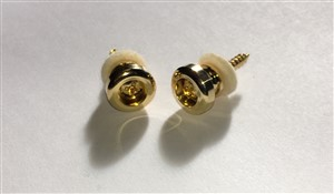 Guitar Man Gold Strap Buttons & Screws HE007GD