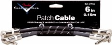 """Fender Custom Shop Performance Series 6"""" Patch Cable, Black Tweed,Twin Pack"""