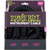 Ernie Ball Ultraflex Coil Guitar Lead 6044, Black, 30ft- Image 1
