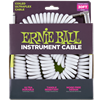 Ernie Ball Ultraflex Coil Guitar Lead 6045 Angled, White, 30ft- Image 1