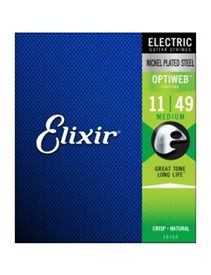Elixir Optiweb Guitar Strings Medium 11-49