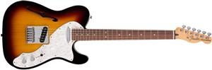 Fender Deluxe Telecaster Thinline, 3 Tone Sunburst, Rosewood - Image 1