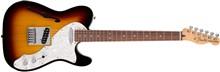 Fender Deluxe Telecaster Thinline, 3 Tone Sunburst, Rosewood- Image 1