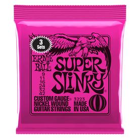 Ernie Ball Super Slinky 9-42 3223 3 Sets