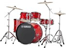 "Yamaha Rydeen Drum Kit with 22"" Kick Drum & Cymbals, Hot Red"