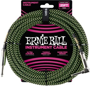 Ernie Ball Braided 25ft Guitar Lead