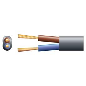 2 core oval mains PVC, 2 x 24/0.2mm, 6A, Black, 100m (804.314UK)